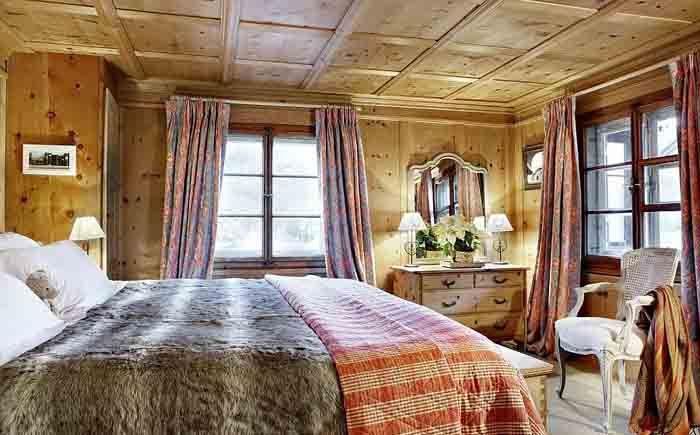 Традиционная спальня шале
