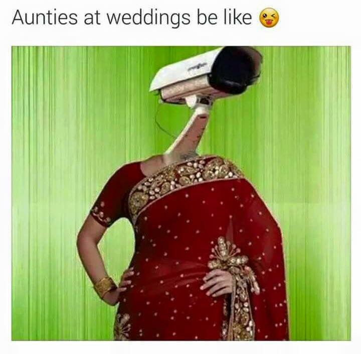 Hahaha #desiweddings.. I swear at parties desi aunties just do match making like aunty make sure your own kid is married