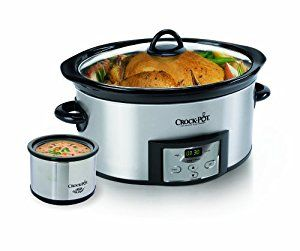 Amazon.com: Crock-Pot 6-Quart Countdown Programmable Oval Slow Cooker with Dipper, Stainless Steel, SCCPVC605-S: Kitchen & Dining