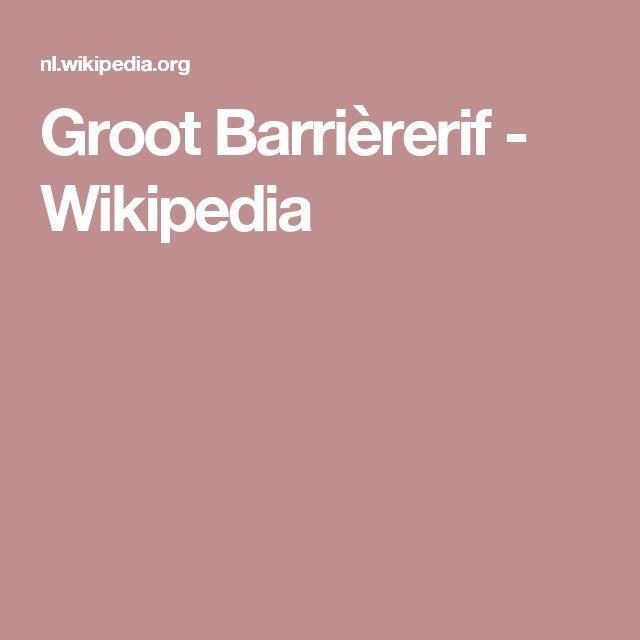 Groot Barrièrerif - Wikipedia