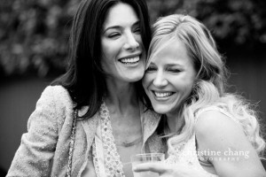 Jaime Murray and Julie Benz   I absolutely love the candid look of the photo, the natural smiles and poses and the black & white really  enhances the beauty of the image.