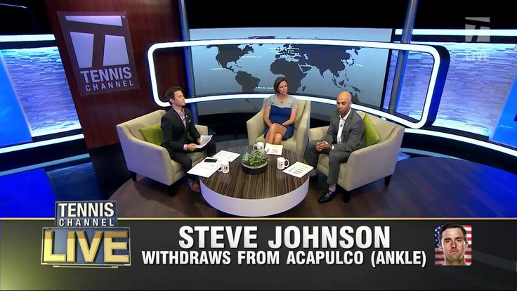 Steve Johnson withdraws from Acapulco with ankle injury.  Lindsay Davenport and James Blake weigh in: