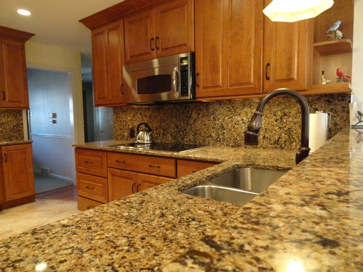 Cнerry Kitchen In Mechanicsburg, PA With Cherry Cabinetry And A Quartz  Countertop And Backsplash
