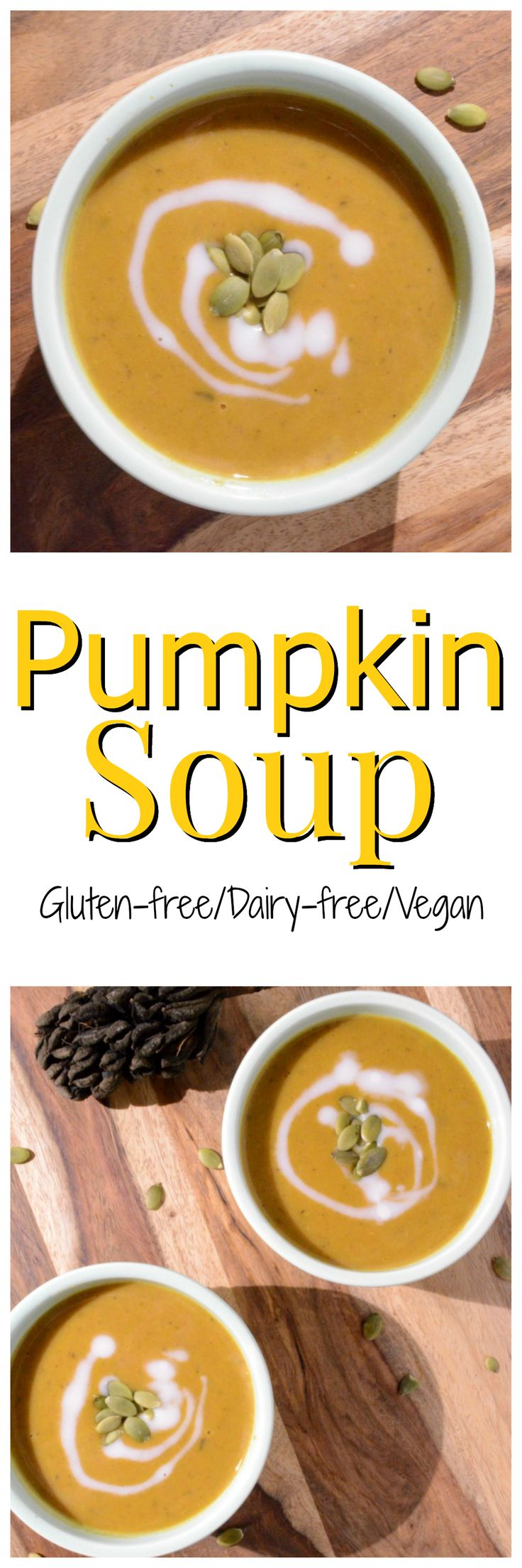 This pumpkin soup is creamy in texture. Sophisticated enough to serve at a nice dinner party but also simple enough to serve your toddler.