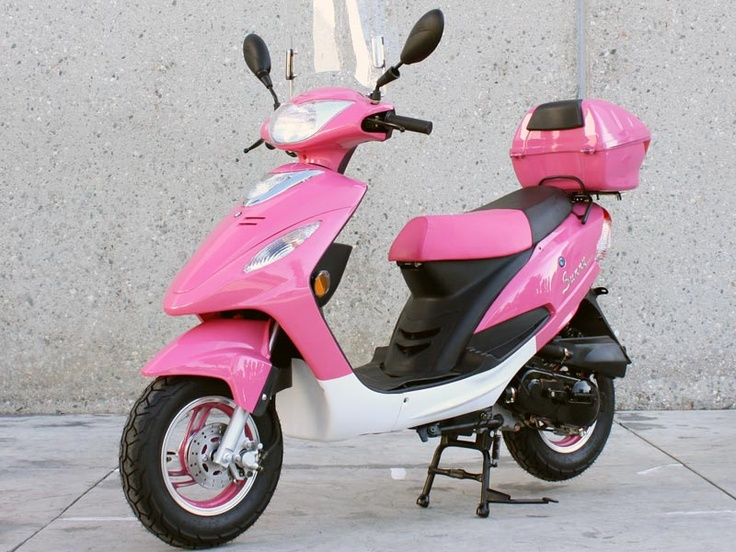 Pink Moped Scooter. My new obsession and I will have one!