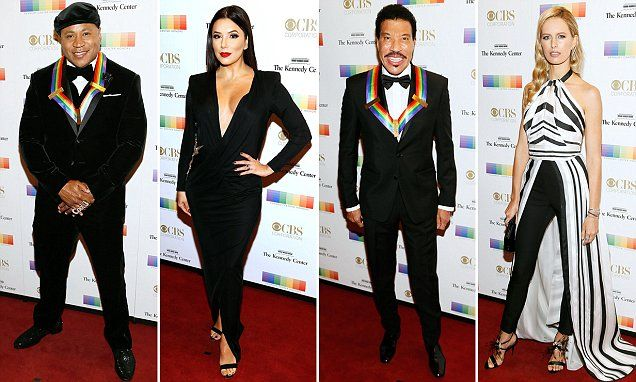 With the notable absence of President Donald Trump, the Kennedy Center on Sunday celebrated singers Lionel Richie and Gloria Estefan, rapper LL Cool J, television producer Norman Lear and dancer Carmen de Lavallade with honors for the arts.
