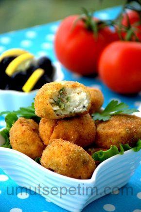 Kızarmış peynir topları