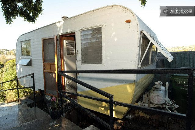 Welcome to the Sunshine Trailer!  This 1955 Kenskill Camper is a little slice of SoCal Americana.