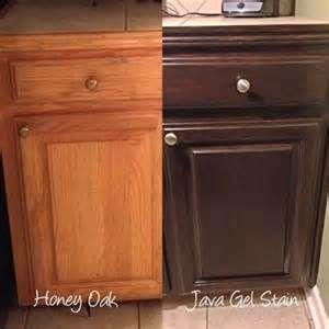 Java Gel Stain Oak Kitchen Cabinets