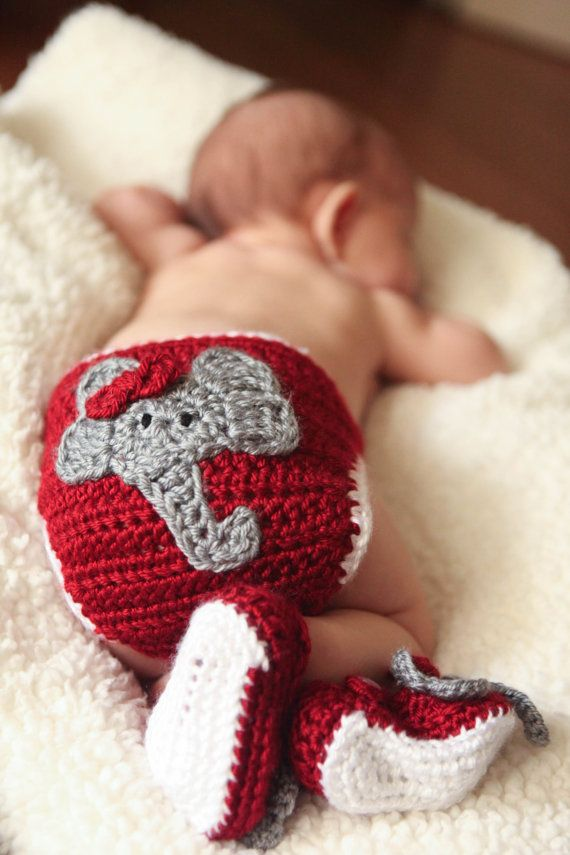 Alabama Crimson Tide Diaper Cover, Baby Infant Boy or Girl Diaper Cover, Newborn to 24 months, Photo Prop