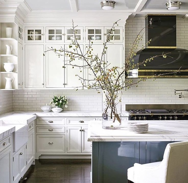 nobby design girly kitchen decor. White kitchen black range hood putty blue island spring branches in a vase  13 best Gorgeous Kitchens images on Pinterest Kitchen ideas Nobby Design Girly Decor Home Plan