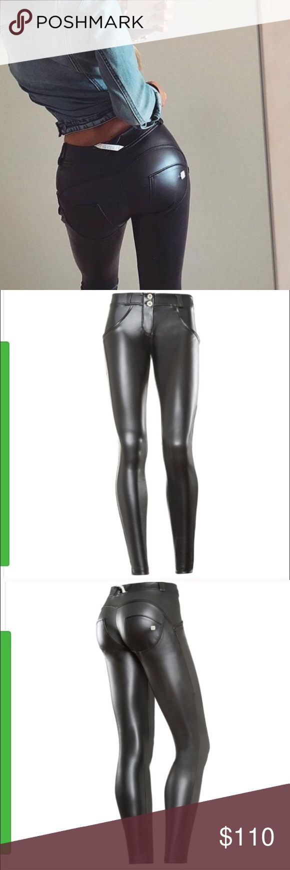 New Freddy store WR up leather black pants Small Brand new with tags. Famous Freddy Store WR Up shaping MID Rise black leather effect skinny pants. Size Small. Beautiful pebbled leather pants. With shaping and lifting effect. Size Small. Fits amazingly. So stretchy. All sold out on the website Freddy Pants Skinny