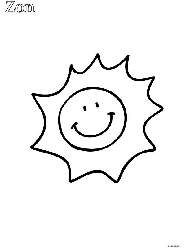 kleurplaat zon - Google zoeken