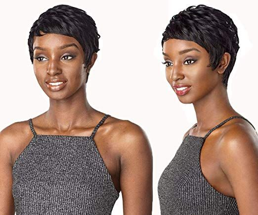 Amazon.com: HUA Short Pixie Cut Wigs for Black Wom…