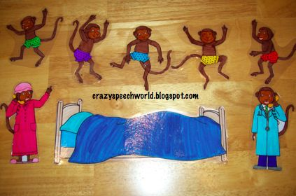 """Crazy Speech World: Book Review: """"Five Little Monkeys Jumping on the Bed"""""""