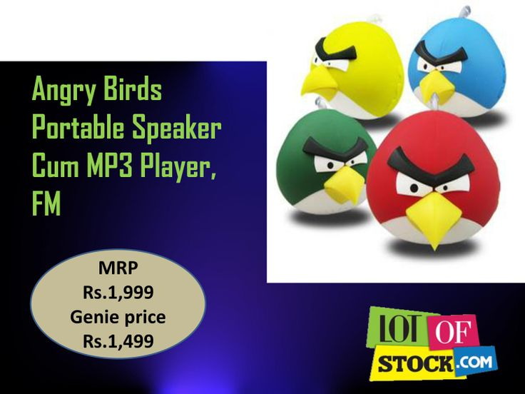 "Angry Birds Portable Speaker Cum MP3 Player,FM ""http://goo.gl/OoIR3T""... For every sign up receive Rs.5000 worth Genie Coupons only from ""http://goo.gl/mrqjDj""..."