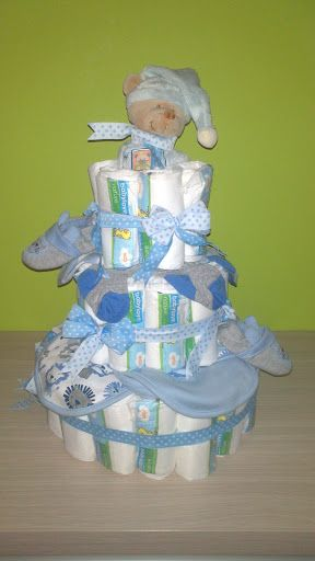 Diaper cake-made by Neer sisters