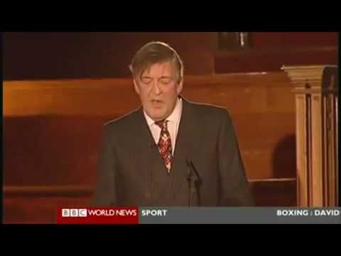 Stephen Fry dismantles the Roman Catholic Church, from the Intelligence Squared debate | The Galactic Free Press