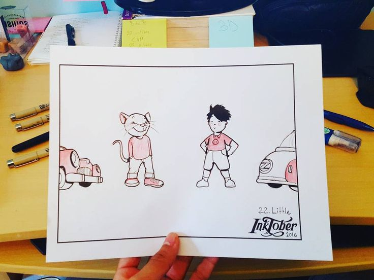 #inktober Day 22: Little, by CatasCreations on DeviantArt. Stuart Little and George Shrinks #fanart