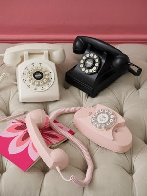 dial up telephones, and the telephone man came to your house to install it. Who would have thought we would be carrying our phones around. lol