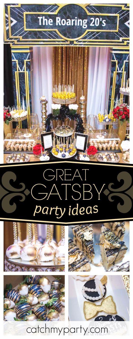 Schwingen Sie mit der wundervollen Great Gatsby Party in die 20er Jahre! Die Cake Pops sind …   – Partying