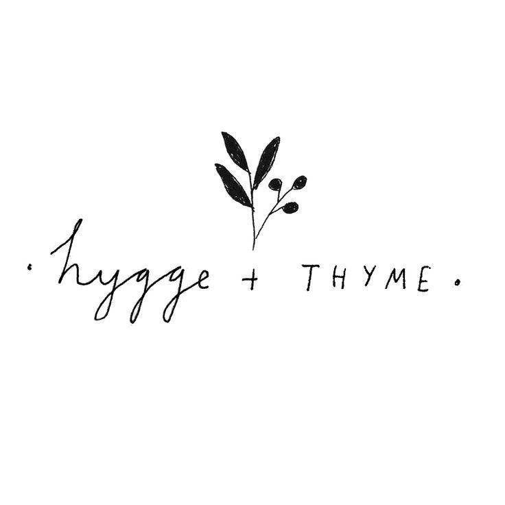 Hygge + thyme branding by Ryn Frank www.rynfrank.co.uk