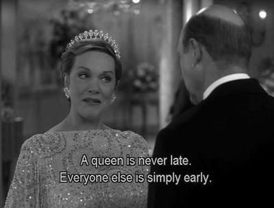 I think this shall be my new excuse when I'm running late...