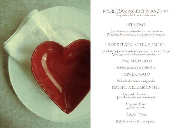 Si quieres sorprender a tu pareja acompáñanos en San Valentín ¡Tendrás una noche especial! http://kcy.me/z4xg #quecomer #SanValentín