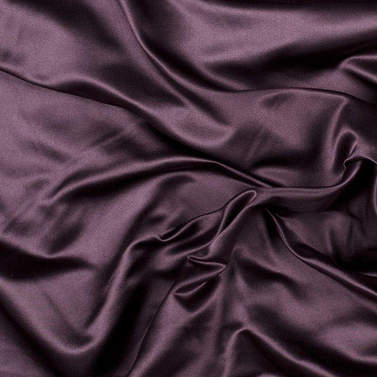 Dark Aubergine Silk Duchesse Satin Product #: PV9500-21 $54.99 / Yard