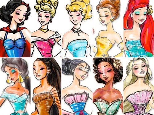 DISNEY PRINCESS SKETCH- they all look soooooooo pretty!