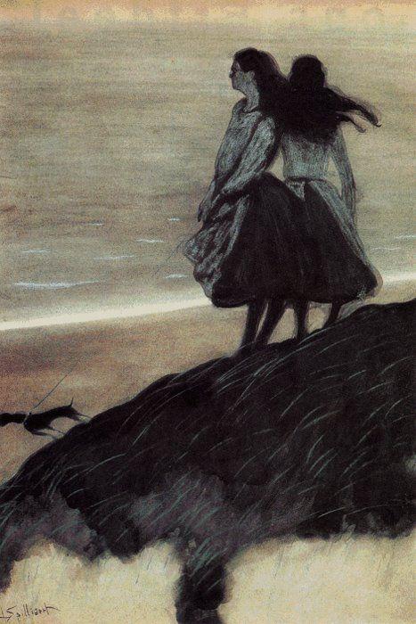 Léon Spilliaert (Belgian, 1881-1946) - Girls on a Dune, 1913