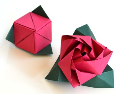 Magic Cube Rose Origami - the one exception to my one-year moratorium on paper-folding