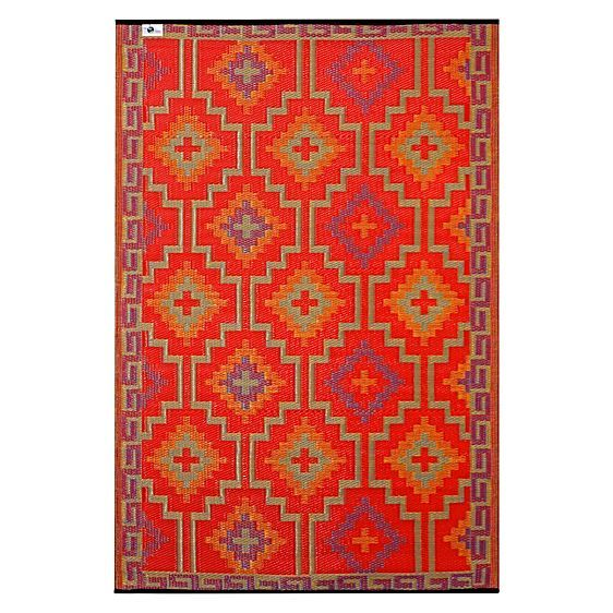 Embolden sizzling colour and spiritual vibes from the Lhasa Plastic Outdoor Rug from FAB Rugs, an invigorating and stylish addition to your everyday space.