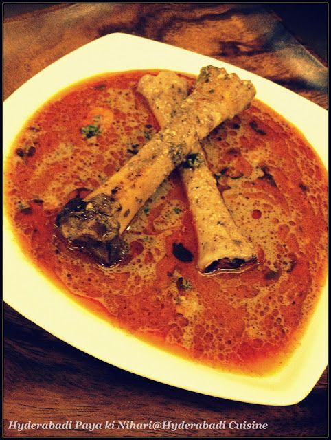 Hyderabadi Cuisine: Hyderabadi Paya ki Nihari ( Lamb trotters broth)