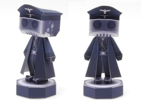 Hellboy - Karl Ruprecht Kroenen Paper Toy - by Lazy Life - == -  From Hellboy comics and movies, here is Karl Ruprecht Kroenen, in a nice paper toy version created by designer Lazy Life.