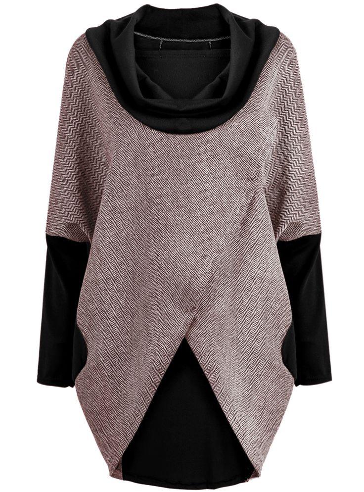 Abrigo suelto manga larga-gris y negro 17.64