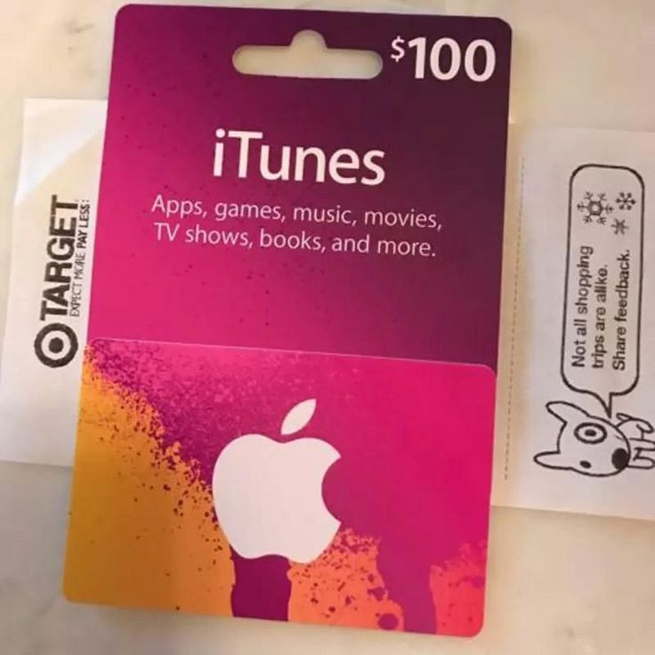 Free 10 target gift card when you buy a 100 itunes gift