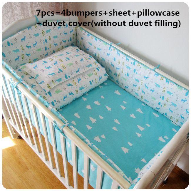Beförderung 67 Stücke Baby Bettwäsche Set Baumwolle Vorhang Krippe