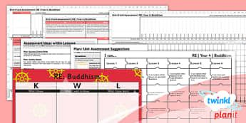 PlanIt - RE Year 4 - Buddhism Unit Assessment Pack - planit, year 4, religious education, re, buddhism, assessment pack