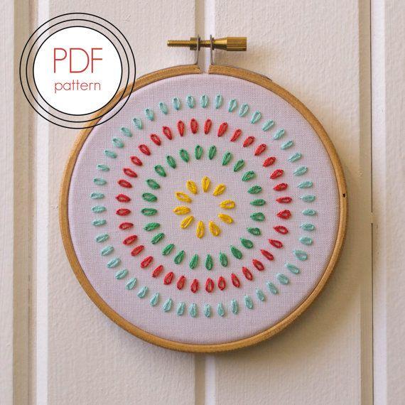 Modern Embroidery Pattern PDF. Modern Hoop Art. von LovelyMesses