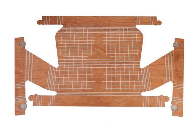 wintec, poltrona skin   a chapa de compensado em seu formato flat