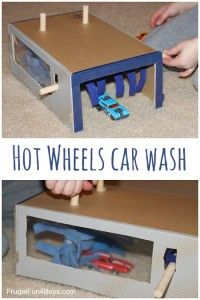 Shoebox Car Wash for Hot Wheels Cars