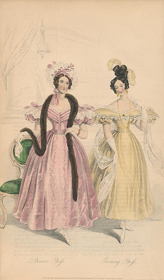 December, 1832 - Dinner Dress, Evening Dress - Court Magazine
