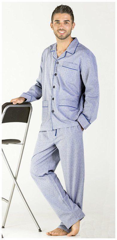 OFERTA   Comprar Pijama clásico hombre Pettrus Man liso puntitos por 42,15€, corte clásico, de manga y pantalón largo en tela de algodón 100%. ENVÍO URGENTE. #menswear #mensunderwear http://www.varelaintimo.com/40-pijamas