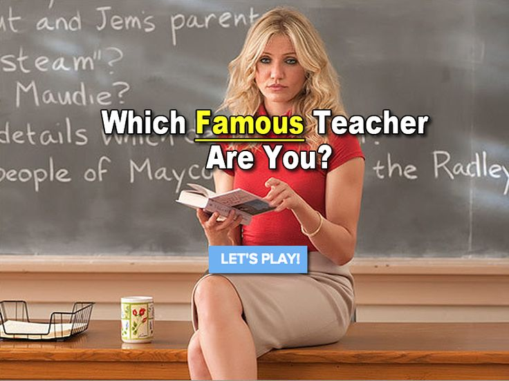 Answer 8 quick questions to find out if you are more like the famous Mrs. Halsey (Bad Teacher) or Ms.Norbury (Mean Girls) or ....