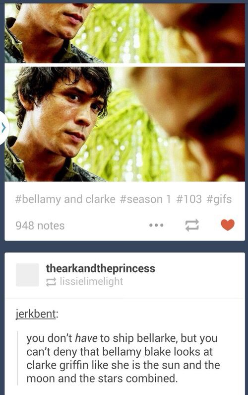 The 100 #Bellarke Honestly, you really can't deny their connection.