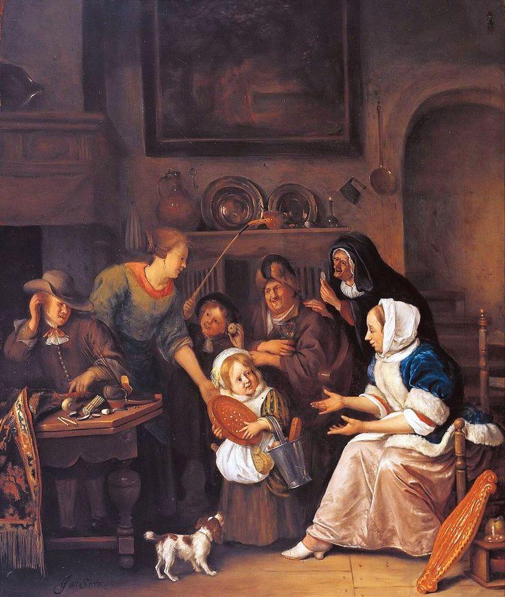 Sint Nicolaasfeest, Museum Boijmans Van Beuningen, Rotterdam (Jan Steen)