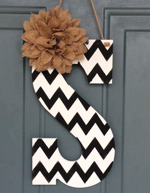 Monogram Door Hanger - Intial Door Hanger - Door Hanger Monogram  - Door Hanger - Door Decoration  - Monogram Door Decor - Room Decor