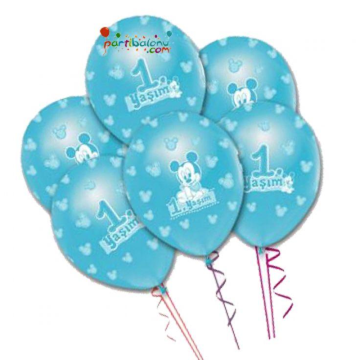 Baby Mickey Mouse Balon (20 Adet)