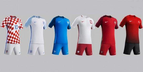 Camisas Nike para Euro 2016